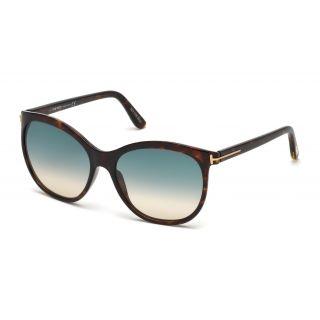 Tom Ford Geraldine-dark havana / gradient green Sunglasses